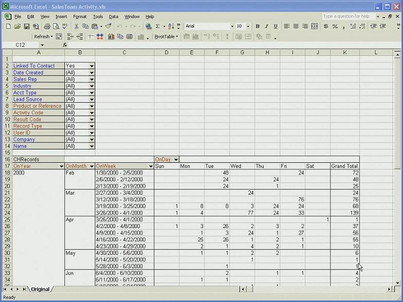 Sample Report In Excel | Sample Mastermine For Goldmine Crm Reports Mastermine Example Report